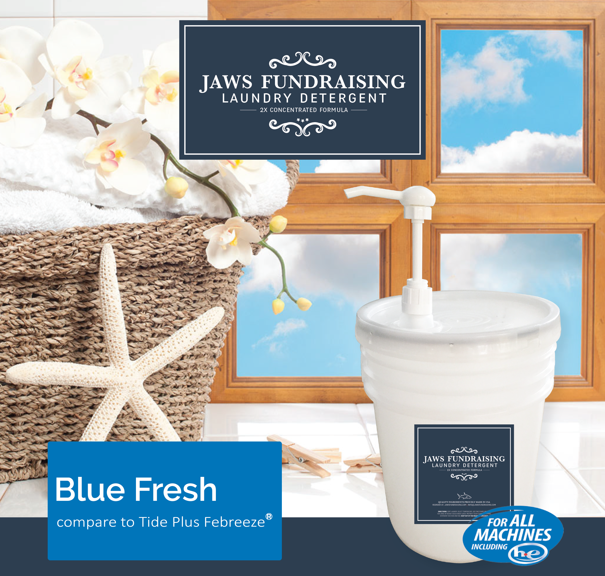 BRHS Band Booster Laundry Detergent/Blue Fresh Fundraiser - Bloodworth (Non Refundable)